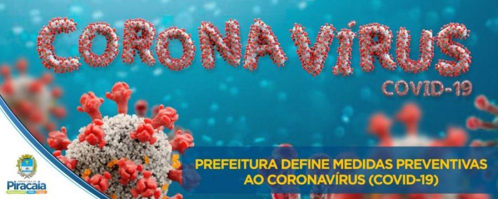 A Prefeitura de Piracaia publicou um novo decreto sobre o Corona vírus